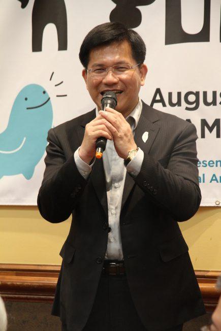 林佳龍稱童玩節是重要的平台,向主流推廣台灣。(記者李榮/攝影)