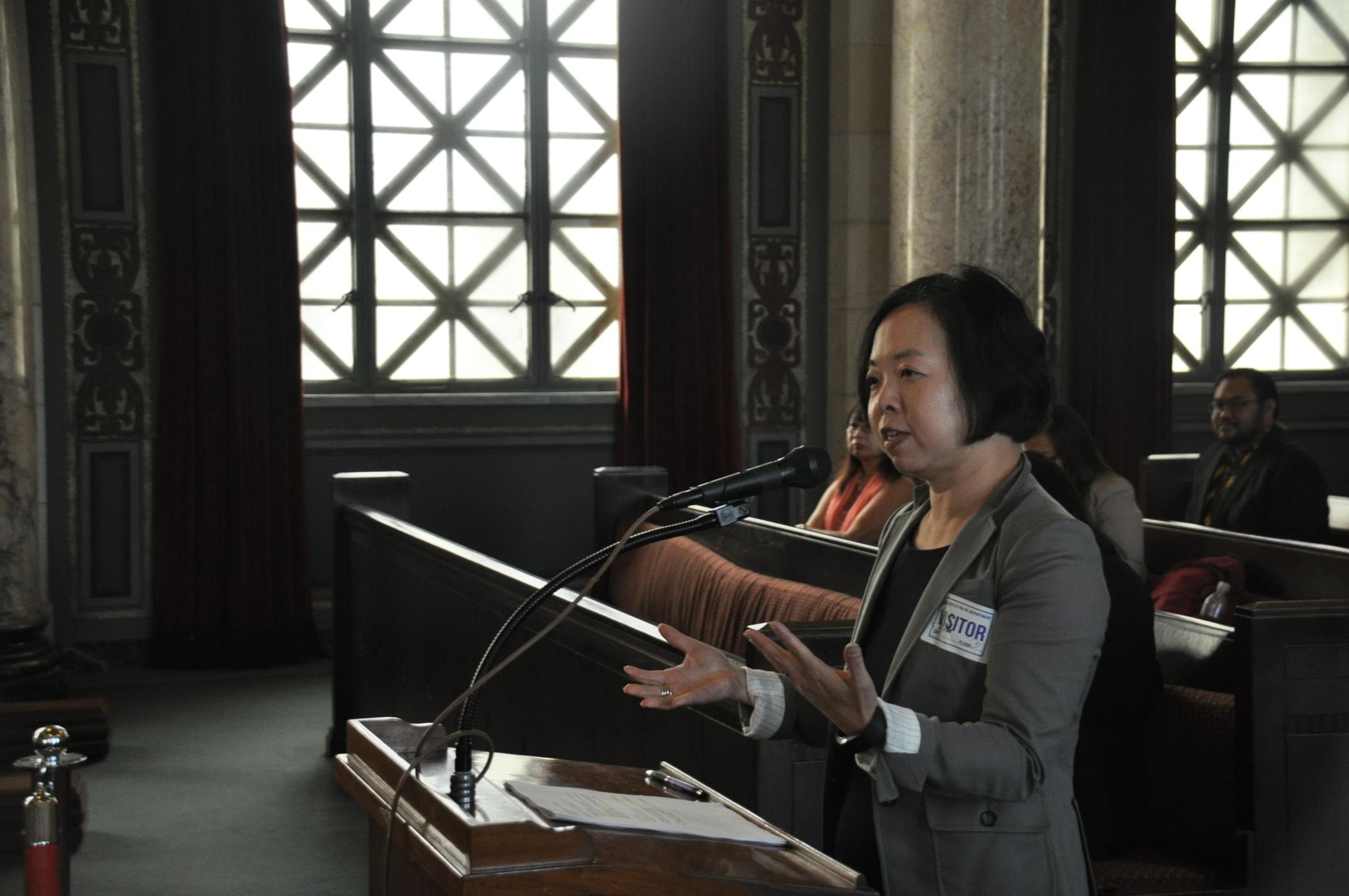 亞太公義中心的Karin Wang。(本報記者/攝影)