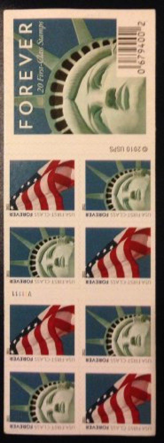 美國郵局自由女神像郵票被雕塑者控告侵權。(網路照片)
