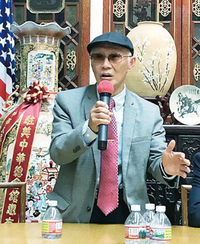 組織歡迎會的中華總會館資深商董林炳昌不認同示威人士的行動。(記者黃少華/攝影)