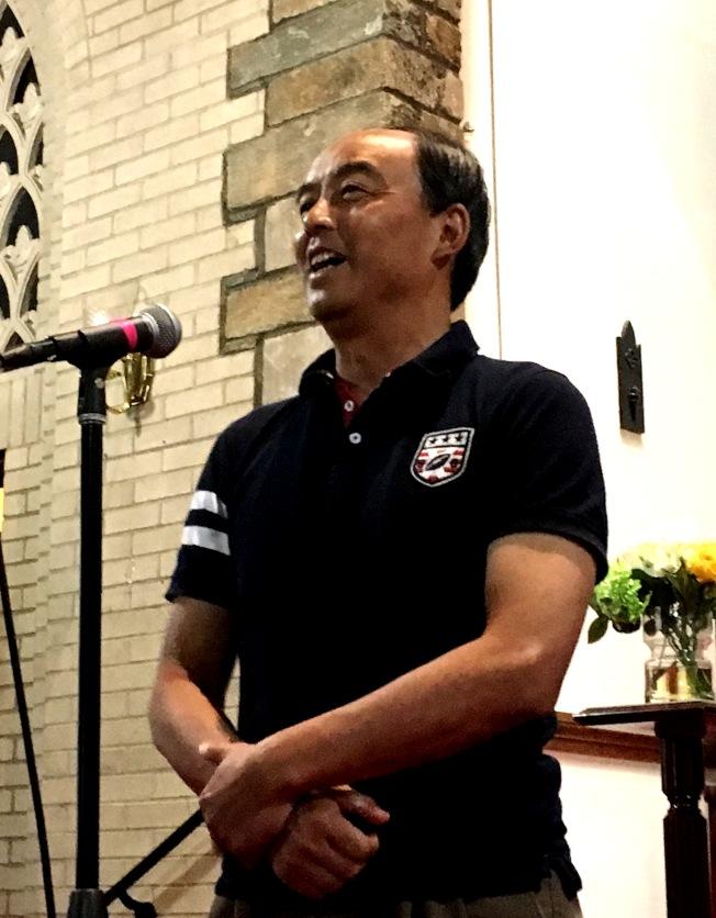 甘國農演講。(記者陳小青/攝影)