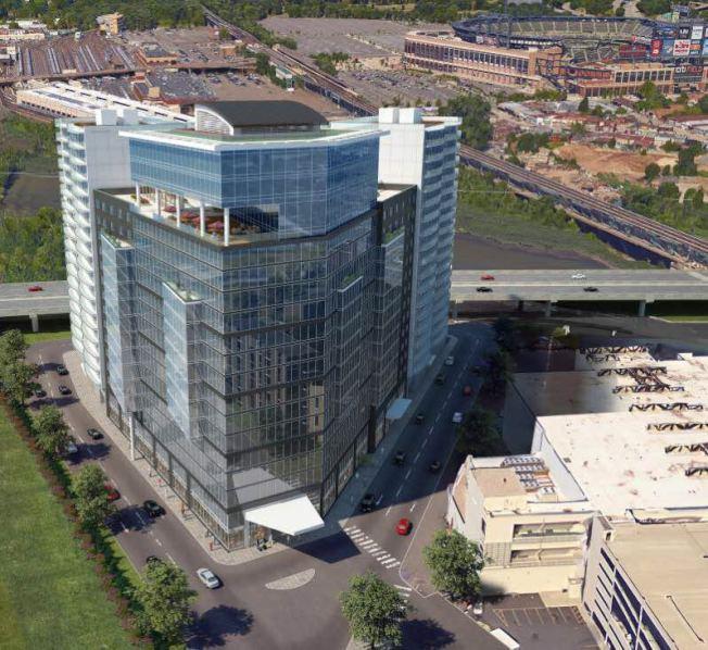 富盛廣場建成後,將成為法拉盛廣場、天景豪苑、富頓二號之後的第四大多功能商業住宅綜合樓。(何秋灡/提供)