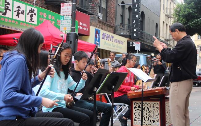 中華民樂團表演節目。(記者李晗/攝影)
