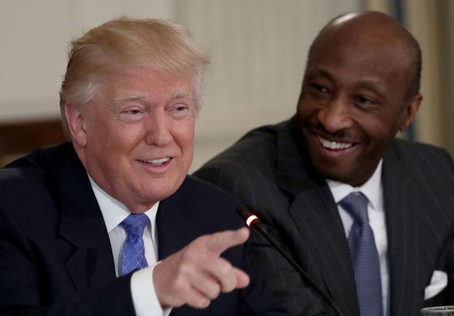 美國最知名的非洲裔企業人士之一、默克藥廠(Merck)執行長弗瑞茲爾(Kenneth Frazier )。(Getty Images)