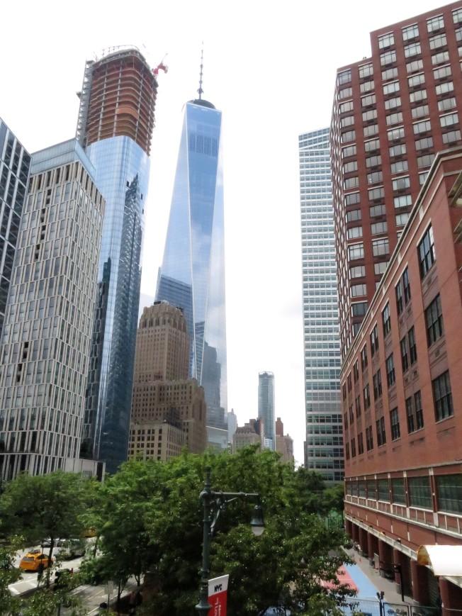 從翠貝卡區可眺望世貿大樓。(記者陳小寧/攝影)
