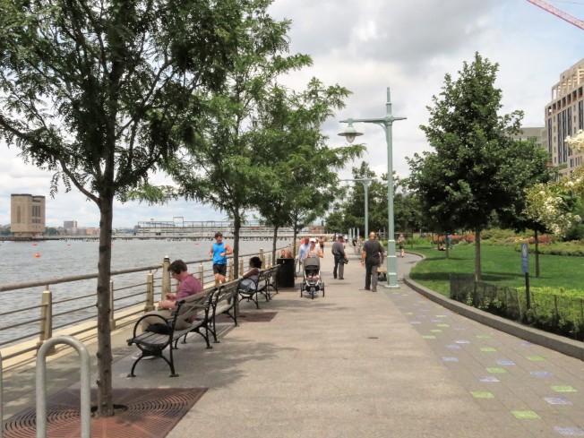 哈德遜河公園一景。(記者陳小寧/攝影)