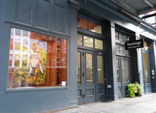 翠貝卡區內大街小巷,隱藏眾多藝術家的藝廊。(記者陳小寧/攝影)
