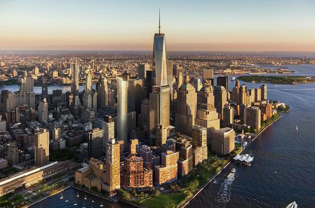 莫瑞街111號緊鄰世貿中心,為紐約下城的天際線再添彩。(取自111 Murray網站)