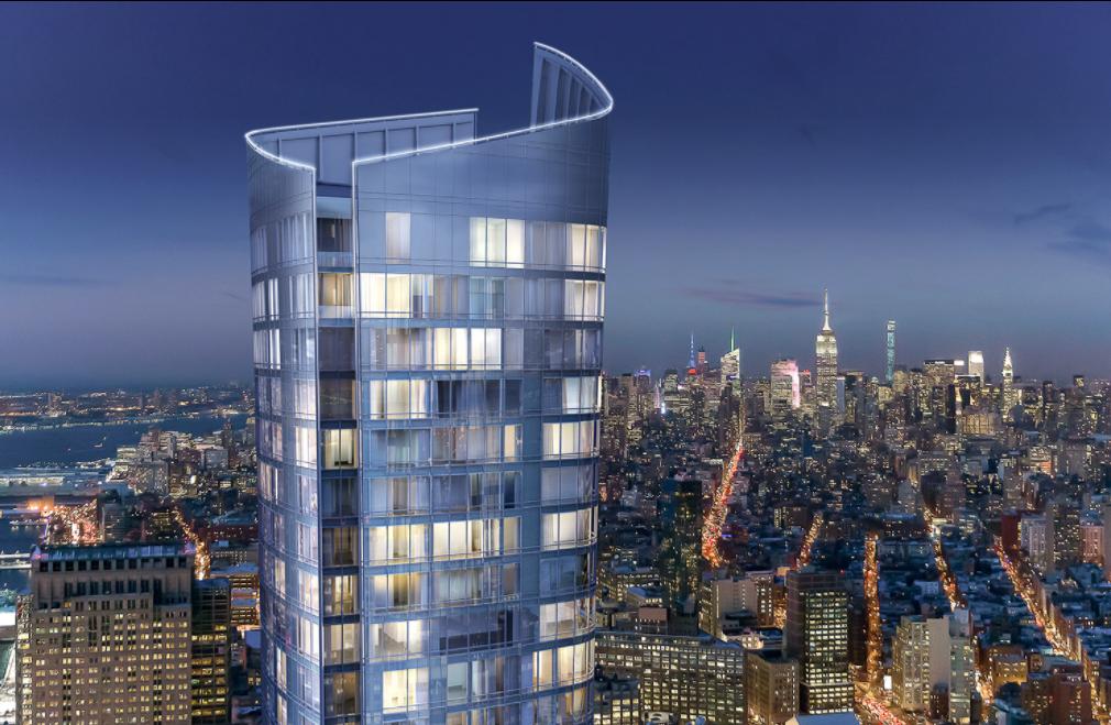 大樓由全玻璃外墻打造,遠處看宛如一座巨星玻璃花瓶(取自111 Murray網站)