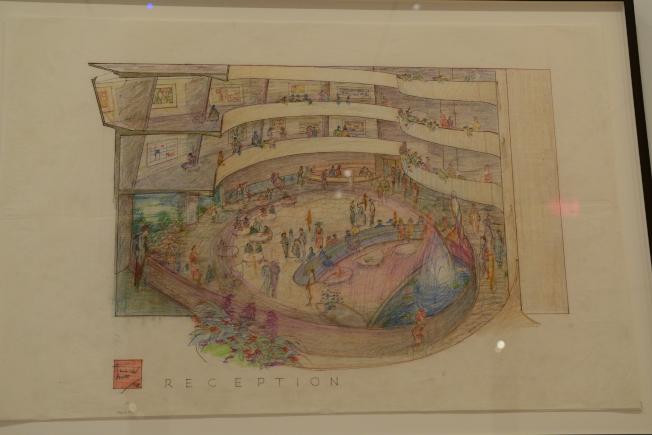古根漢美術館透視圖。(記者許振輝/攝影)