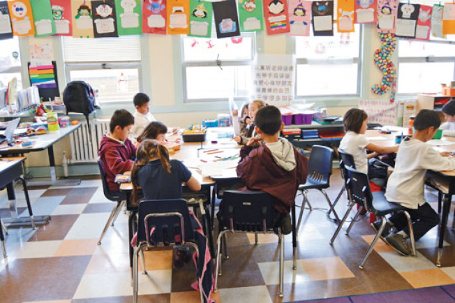 Kenneth Rainin基金會宣布,將在屋崙39個學區和特許學校內投資300多萬,提高全市範圍內的讀寫能力。(記者劉先進/攝影)