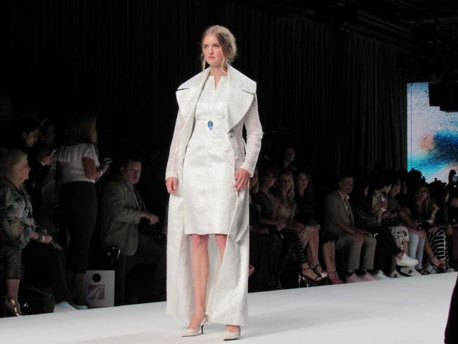 馬蘭布萊頓本季設計著重於布料材質。(記者顏嘉瑩/攝影)