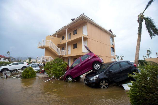 颶風厄瑪帶來的強風巨浪,在法屬聖馬丁島造成嚴重損失。(Getty Images)