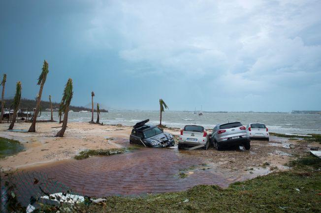 颶風厄瑪過後,法屬聖馬丁島上一片殘破。(Getty Images)