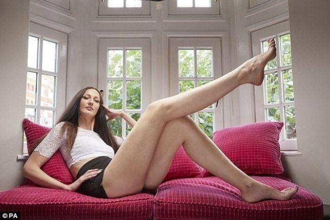 艾卡塔琳娜莉西納是金氏紀錄「全球腿最長模特兒」。圖/摘自Instagram