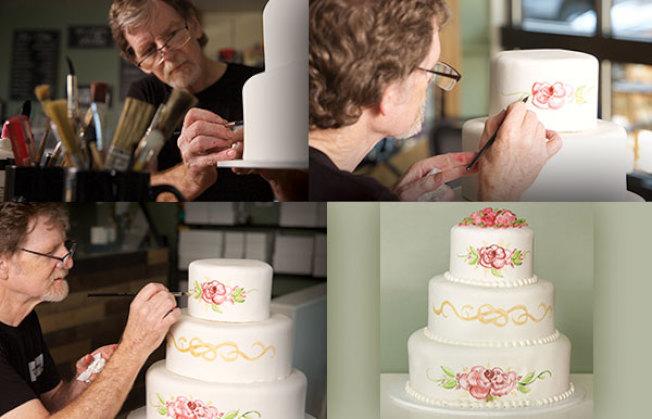 科州法院先前裁定,「傑作蛋糕店」負責人菲力普斯拒絕替同志伴侶做蛋糕,違反了反歧視法律。(取自masterpiececakes.com)