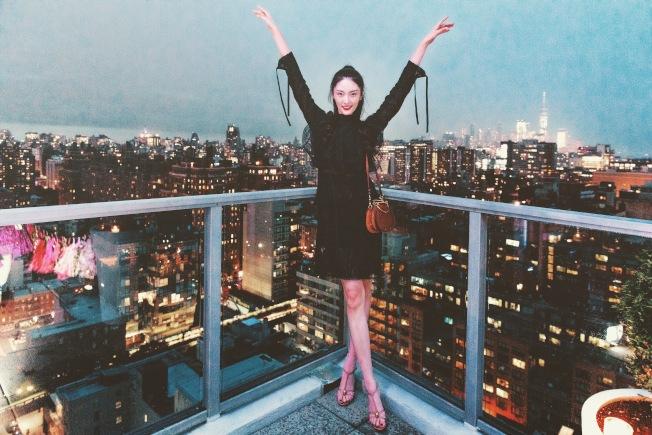 陳碧舸再訪紐約,向世界民眾介紹家鄉南京。(陳碧舸提供)