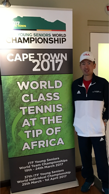 這是張聖揚今年代表美國國家網球隊參加在南非舉行的比賽。(張聖揚提供)