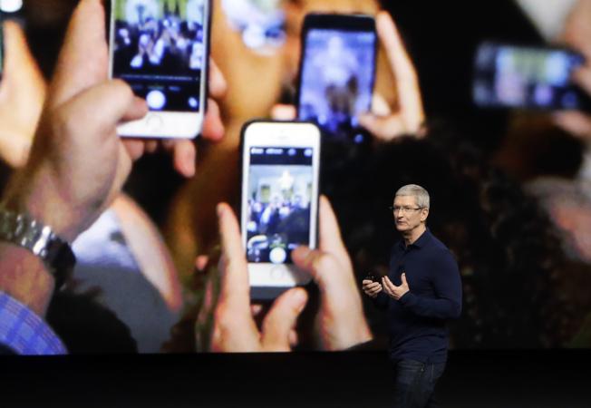 蘋果12日推出最新款iPhone手機。(美聯社)