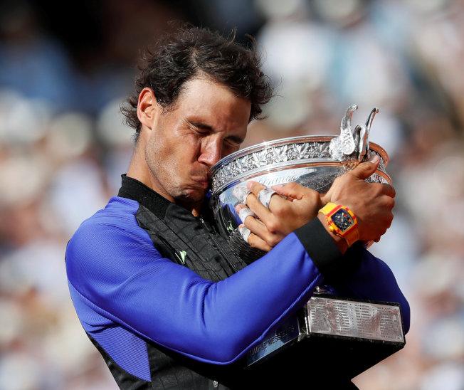納達爾拿下今年法網冠軍。(路透)
