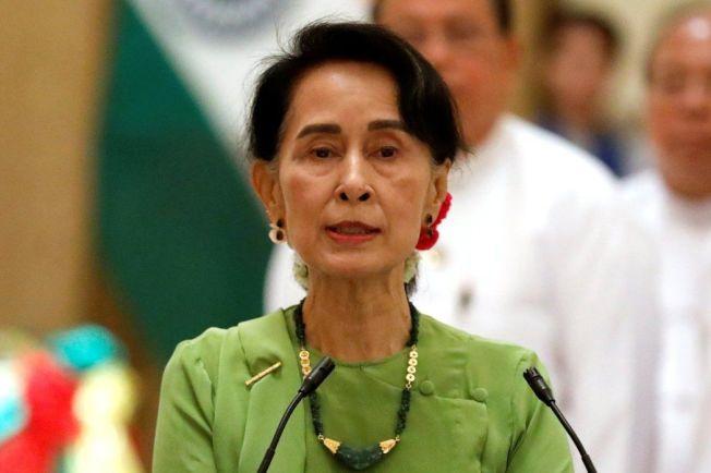 緬甸領導人翁山蘇姬。(路透)