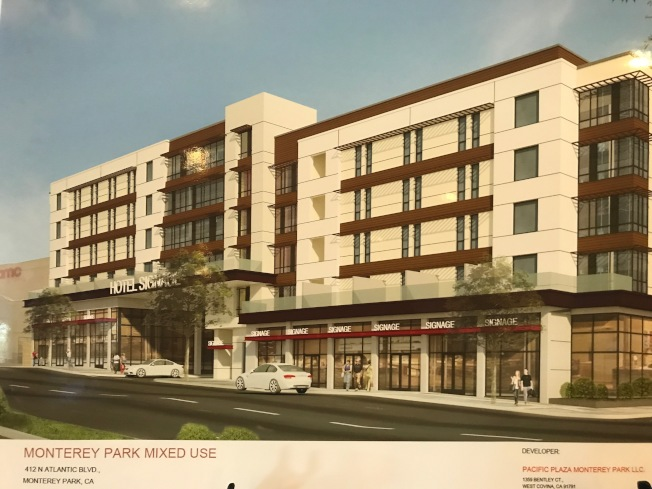 大西洋大道北420號的「Best West Plus」酒店大型商建項目,日前通過市府投票,如今已提交開建申請。(記者高梓原/攝影)