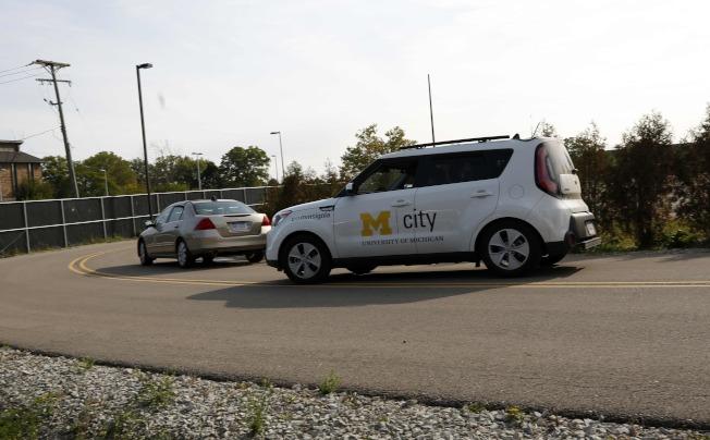 密西根大學的Mcity有各種模擬環境,可測試自動駕駛車。(Getty Images)