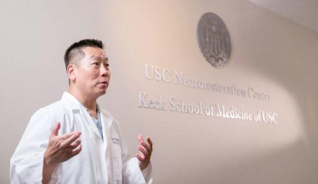 南加大華裔神經外科醫師劉宇。(南加大提供)