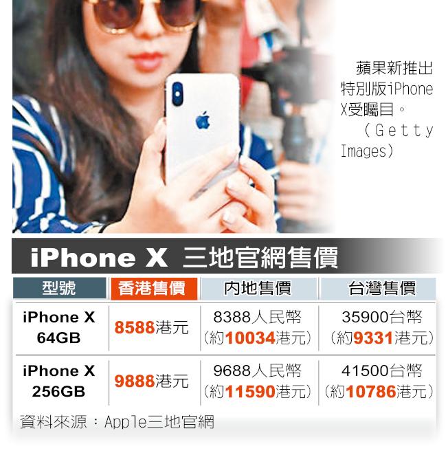 iPhone X 兩岸三地比一比
