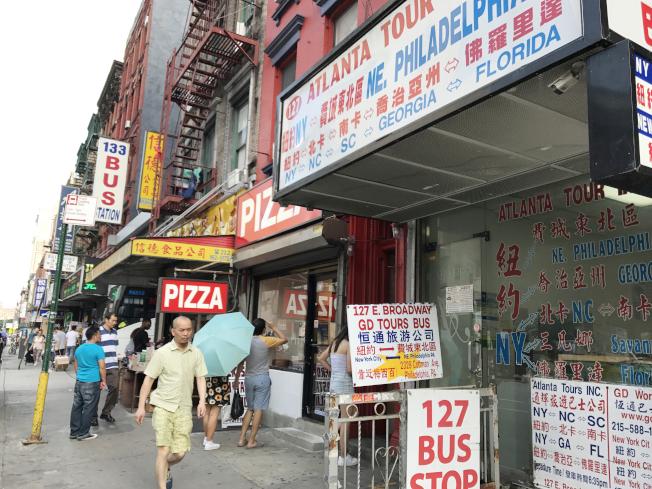 外州餐館工被抓,華社風聲鶴唳,長巴客源有所減少。(記者俞姝含/攝影)