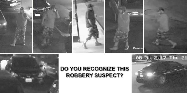 聖荷西搶劫嫌犯攝影機影像。(警方提供)