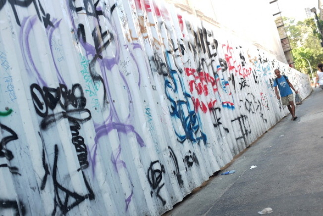 圖為一處遭到塗鴉的牆面。(Getty Image)