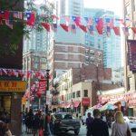 華埠兩岸國旗 首次齊飄揚