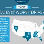 一張圖看全美最爛駕駛都在這些州