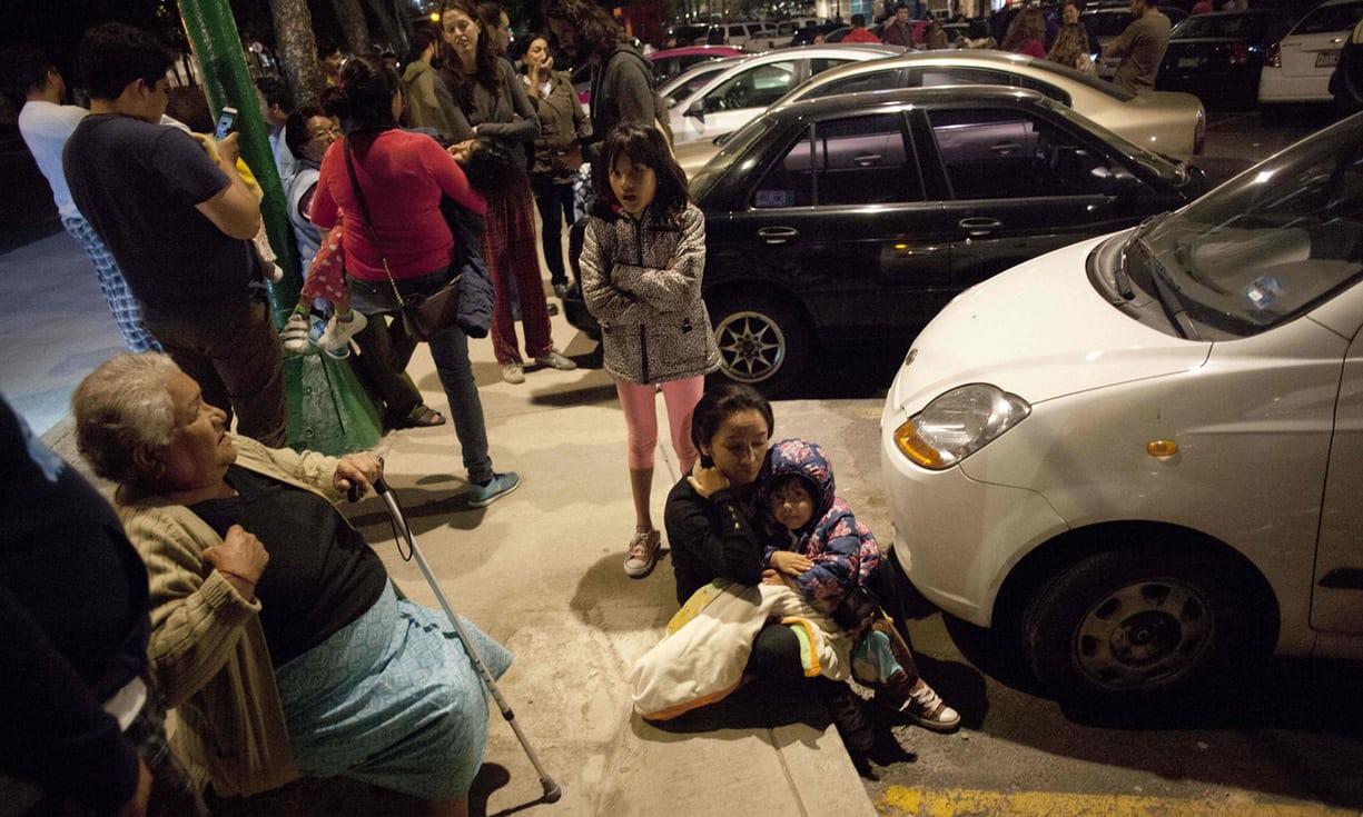 墨西哥昨天深夜發生規模8.2強震。(Getty Images)
