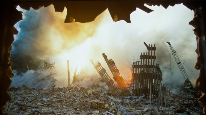 2001年911恐怖攻擊當天,現場一片狼藉。美聯社