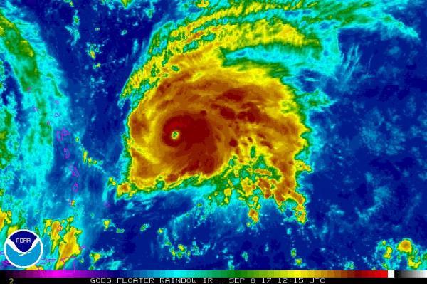 已經升級為四級強度的颶風荷西(Hurricane Jose)。(國家颶風中心)