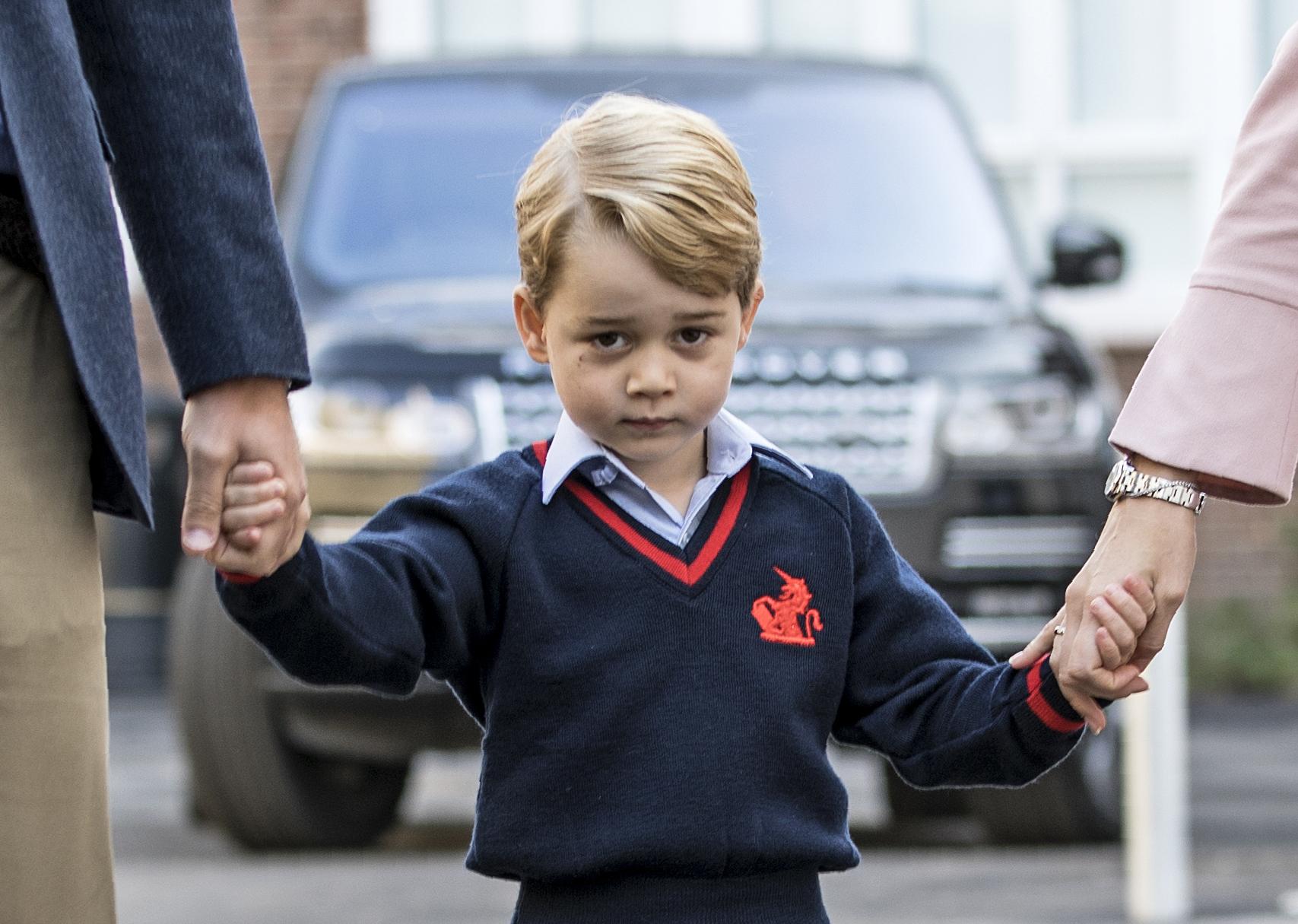 喬治小王子本月7日上學。Getty Images