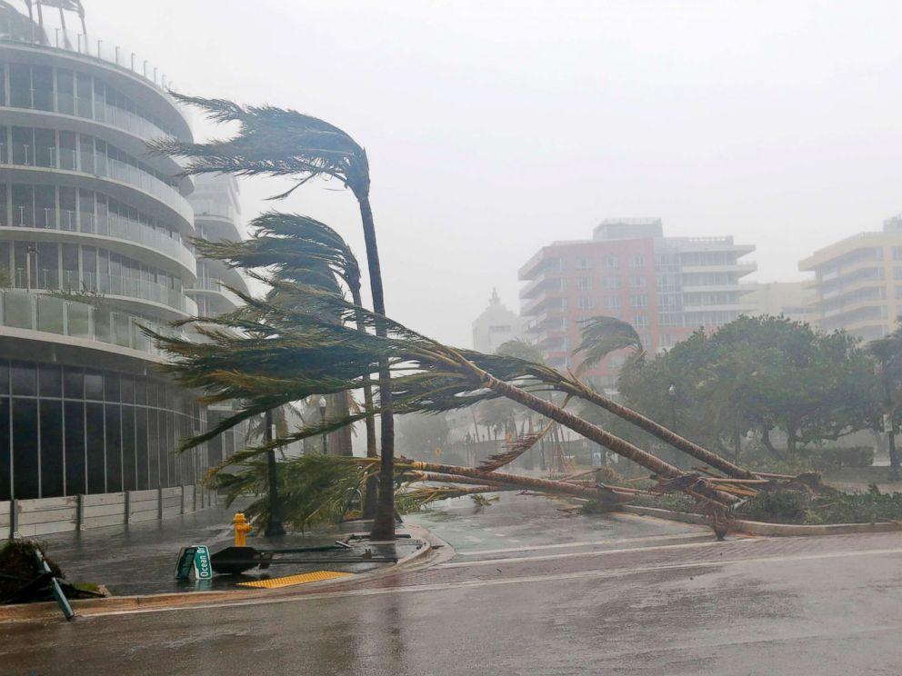 厄瑪颱風的強風暴雨造成至少3死的車禍。美聯社