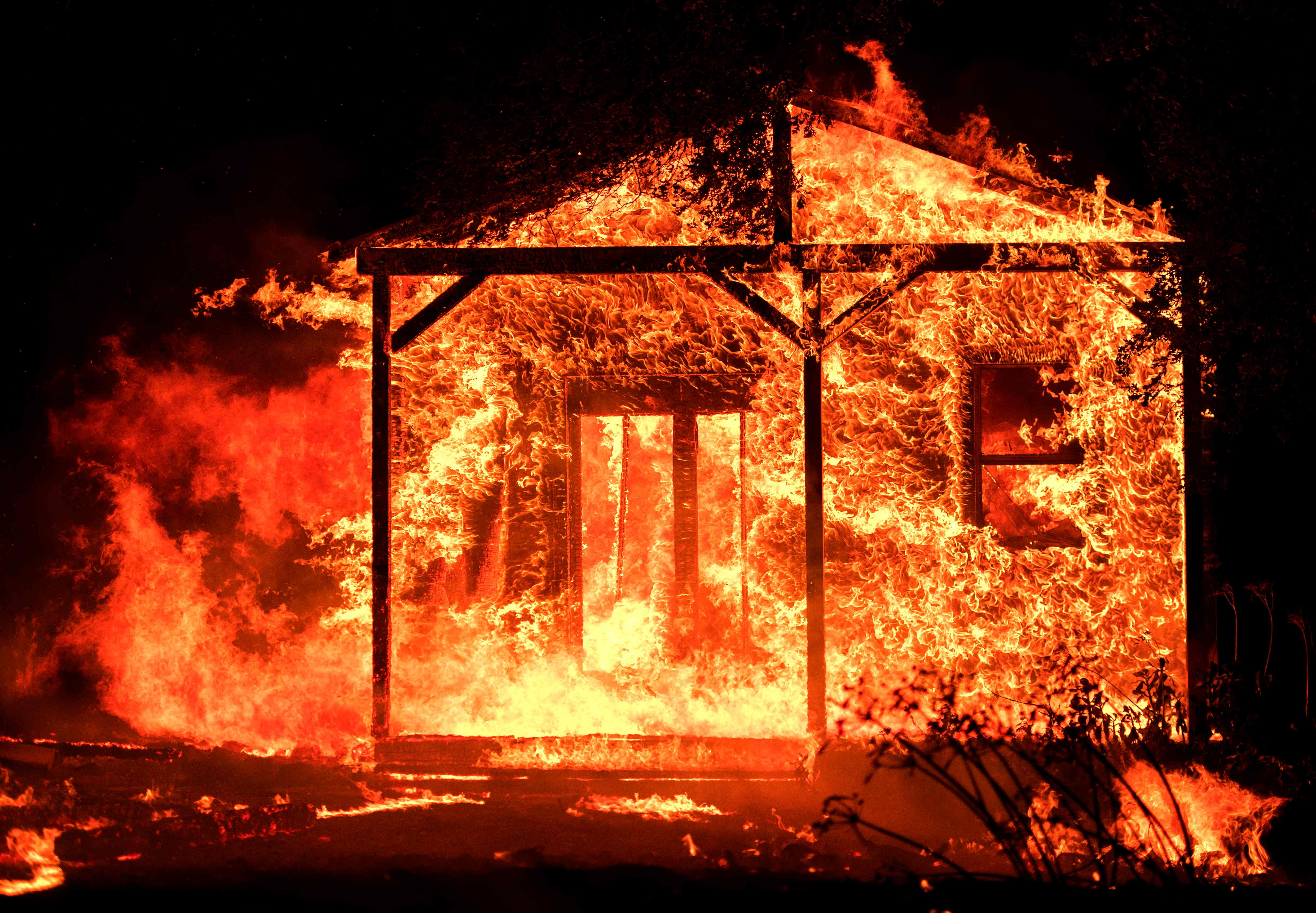 又有強風將臨,納帕酒鄉災難未了。(Getty Images)
