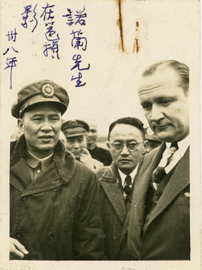 前美國參議員諾蘭(William F. Knowland,右一)於廣西會面白崇禧(左一)。(圖:胡佛檔案館提供)