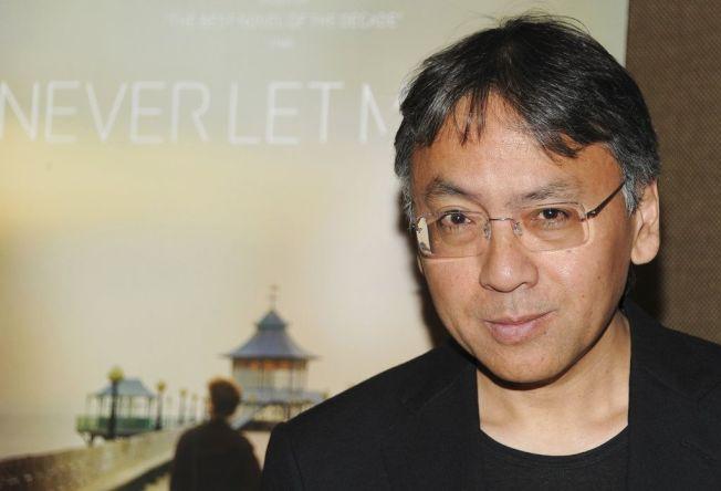 日裔英國小說家石黑一雄獲得諾貝爾文學獎。(美聯社)