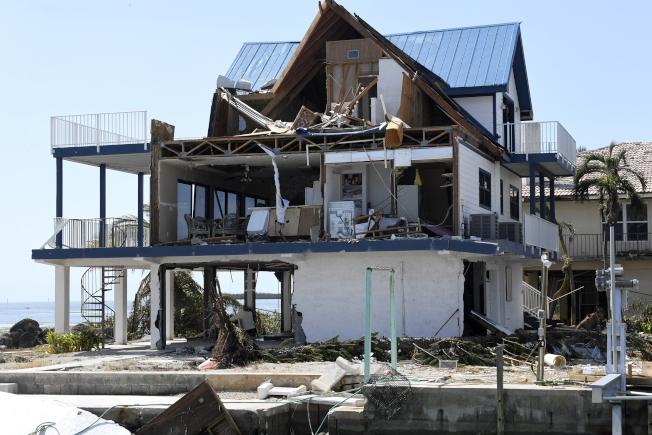 厄瑪颶風將房屋摧毀。(美聯社)