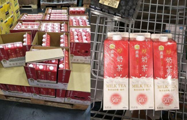 好市多鎖定大量採購的會員,日前台灣消費者一買就是一推車的厚奶茶,其實見怪不怪。(照片來源:Costco好市多商品經驗老實說臉書社團)