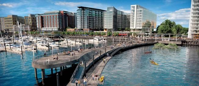 特區西南碼頭,改頭換面、煥然一新,預期將成為華府的觀光新亮點。(www.wharfdc.com)