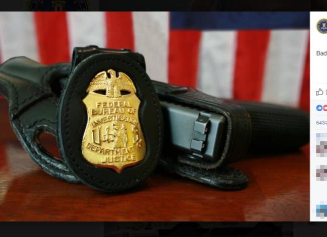 美國當局6日表示,聯邦調查局(FBI)一名喬裝探員立下了功勞,破獲聖戰分子對紐約地鐵和時報廣場(Times Square)等目標發動攻擊的陰謀。(圖取自FBI臉書www.facebook.com)