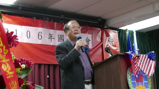 前僑務委員會委員長吳英毅擔任主講嘉賓。(記者李雪/攝影)