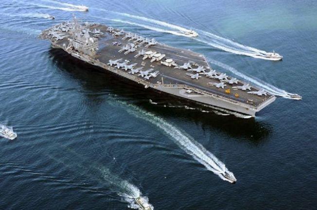 美國雷根號航空母艦6日已經離開香港,開赴朝鮮半島參加美韓海軍軍艦的聯合演習,將演練檢測北韓彈道飛彈的發射、跟蹤飛行軌道和攔截飛彈。(中新社)