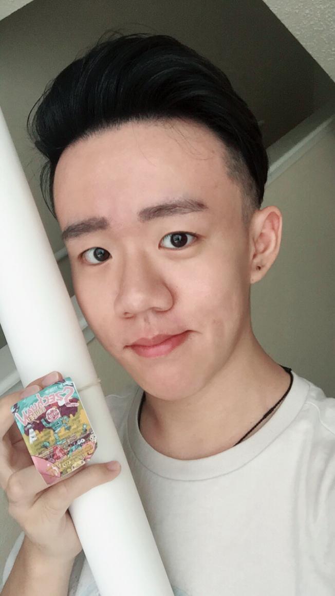 順利搶到「四川辣醬」的中國留學生Richard Meng。(Richard Meng提供)