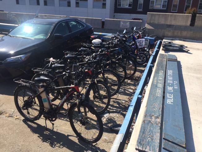 72分局沒收的電單車。(72分局提供)